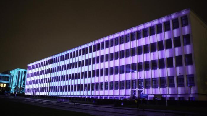 video mapping monumental, Université de Caen