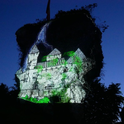 Blangy le Château video mapping itinérant Bandit Visions