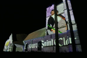 Bourgeauville video mapping itinérant Bandit Visions