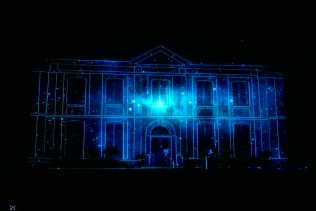 video mapping itinérant Bandit Visions
